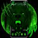 3d Green Neon Bear Theme by no.1 3D Theme