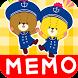 MEMO PAD TINY TWIN BEARS NOTE by peso.apps.pub.arts
