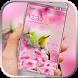 Bird pink spring blossom by BeautifyStudio