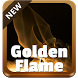 Golden Flame GO Keyboard by SuperColor Themes