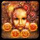 Golden Megec Mask Theme Golden Red Wallpaper by Beauty theme