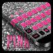Pink Black Keyboard by Cool Theme Studio