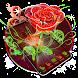 3D Neon Rose Theme