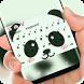 Cute Panda Face Keyboard Theme by Super Hot Themes Design Studio
