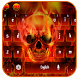 Flame flare skull typewriter by Echo Keyboard Theme
