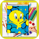 How to Draw baby looney tunes by kids color