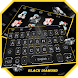 Black Diamond Theme&Emoji Keyboard by Cool Keyboard Theme Design
