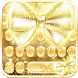 Gold Keyboard Theme gold bow by Fly Liability Themes