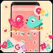 Lovely love bird theme pretty wallpaper by Rose theme