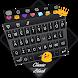 Classic Black Theme&Emoji Keyboard by Cool Keyboard Theme Design
