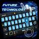 touch future ai blue robot geek theme keyboard by Keyboard Theme Factory