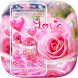 Beautiful Pink Rose Theme by Luxury Mobile Themes