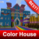 Colored House Map for Minecraft MCPE by BestMapsAddons