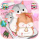 Pink cute kawaii little hamster theme wallpaper by Theme and keyboard design team