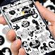 Cute Mouse Black & White Graffiti Theme 3d by Cool Theme Creator
