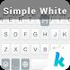 Simple White Keyboard Theme by Emoji Keyboard Team