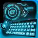 Blue 3D Tech Keyboard by Echo Keyboard Theme