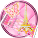 Pink Eiffel Tower Launcher Theme by Luxury Mobile Themes