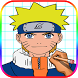 Learn How to Draw Naruto & His Friends - Easy Step by topps