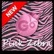 Pink Zebra GO Keyboard Theme by MJRAndroid