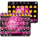 One Rose Emoji Keyboard Theme by Colorful Art