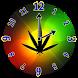 Rasta Weed Clock Widget by Amazing BuPepa World