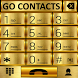 THEME GO CONTACTS GOLD METAL by Tak Team Studio
