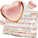 Pink Love Diamond Keyboard Theme by Keyboard Design Yimo