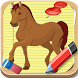 How to Draw Horses Cartoons by drawing apps