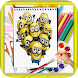 How To Draw despicable Me characters by kids color