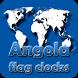 Angola flag clocks by modo lab