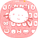 Pink kitty Cartoon Cute Cat keyboard bowknot theme by Simon Pritchard