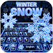 Neon Snow Keyboard Theme by Yum Keyboard Theme