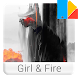 Girl & Fire Xperia™ Theme