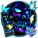3D Neon Skull Butterfly Theme by 3dthemecoollauncher