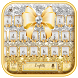 gold shining bowknot keyboard by Keyboard Theme Factory