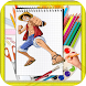 How To Draw One piece by kids color