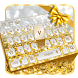 Gold diamond keyboard by Super Keyboard Theme