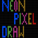 Neon Pixel Draw - Art by Carlos GT