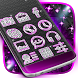 Pink Diamond Neon Theme by Keyboards Themeland