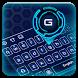 Blue Tech Hologram Keyboard by B-P Theme Design Studio