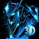 3D Blue Neon Robot Theme by HD Live Wallpaper 2018