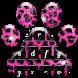 Pink and Black Cheetah Fur Keyboard Theme