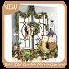 Best DIY Garden Mirror Garland by Triangulum Studio