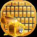 Gold Keyboard Theme by creativekeyboards