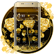 Golden Rose Launcher Theme by Luxury Mobile Themes