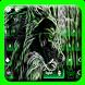 Glowing Wolf Keyboard Theme by Super Cool Keyboard Theme