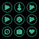 Emerald On Black Icons By Arjun Arora by Arjun Arora