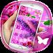 Purple rose 3D crystal theme by Best Custom Theme
