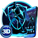 Neon Blue Superhero 3D Theme by Elegant Theme